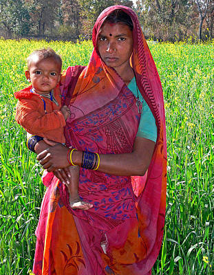 Photograph - Colorful Mother And Child by Joel Gilgoff