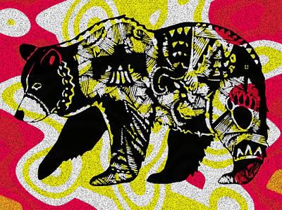 Painting - Colorful Native Black Bear by Ayasha Loya