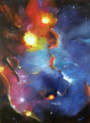Colorful Nebula Art Print by Marti Idlet