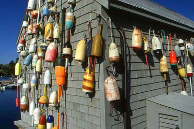Colorful New England Buoys Art Print