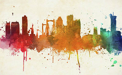 Painting - Colorful New Orleans City Skyline by Dan Sproul
