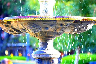Thomas Kinkade Rights Managed Images - Colorful New Orleans Fountain Royalty-Free Image by Carol Groenen