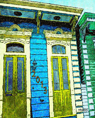 Creole Cottage Wall Art - Photograph - Colorful New Orleans Shotgun House by Rebecca Korpita