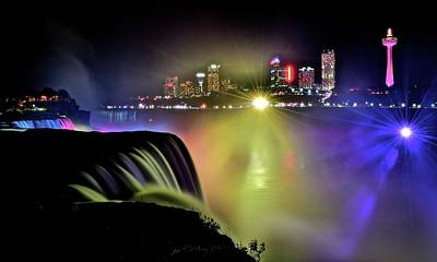 Photograph - Colorful Niagara Night by Frozen in Time Fine Art Photography