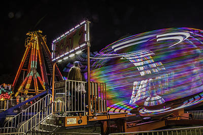 Photograph - Colorful Night Light Fair by Paula Porterfield-Izzo