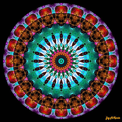 Colorful No. 9 Mandala Art Print by Joy McKenzie