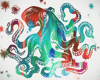 Colorful Octopus  Art Print by Dan Sproul