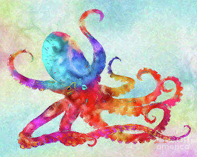 Painting - Colorful Octopus by Olga Hamilton