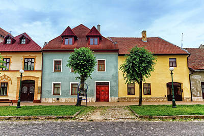 Photograph - Colorful Old Houses In Kezmarok, Slovakia by Elenarts - Elena Duvernay photo