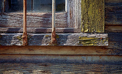 Photograph - Colorful Old Window by Murray Bloom