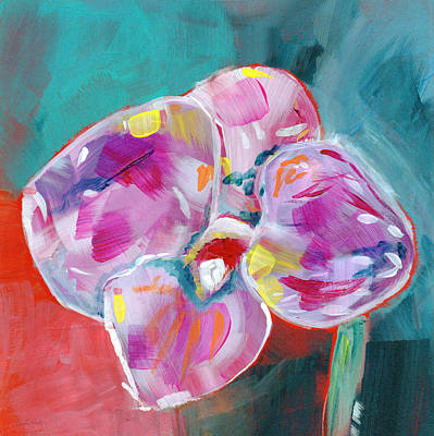 Colorful Orchid- Art By Linda Woods Art Print by Linda Woods
