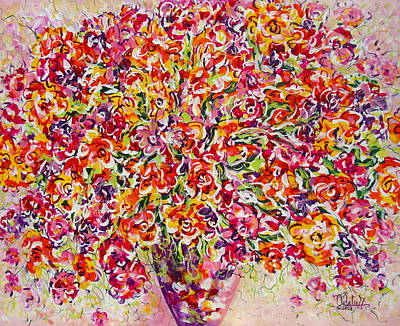 Art Print featuring the painting Colorful Organza by Natalie Holland