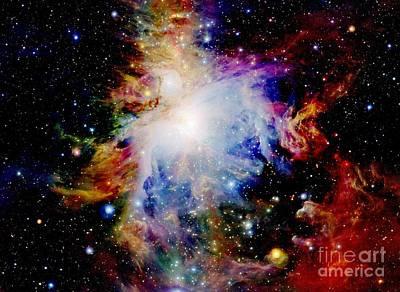 Orion Nebula Photograph - Colorful Orion Nebula by Johari Smith