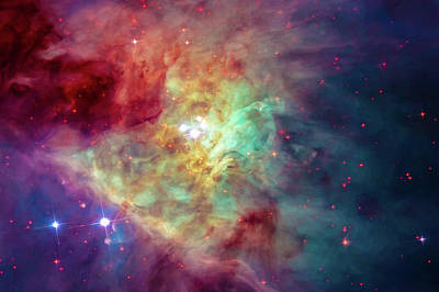 Photograph - Colorful Orion Nebula Space Image by Matthias Hauser
