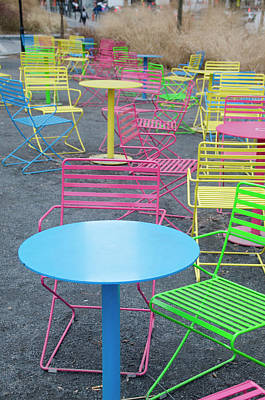 Photograph - Colorful Outdoor Table And Chairs - Dilworth Plaza by Bill Cannon