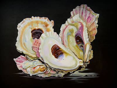 Painting - Colorful Oyster Shells by Phyllis Beiser