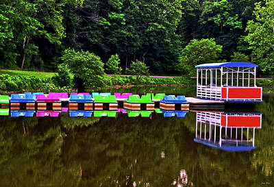 Colorful Paddle Boats 001 Print by George Bostian