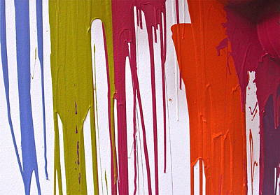 Photograph - Colorful Paint Drips by Denise Mazzocco