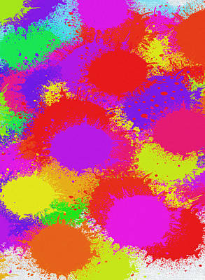 Digital Art - Colorful Paint Splash Abstract Pop Art by Shelli Fitzpatrick