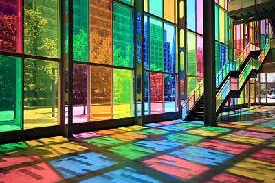 Photograph - Colorful Palais Des Congres Montreal Canada by Pierre Leclerc Photography