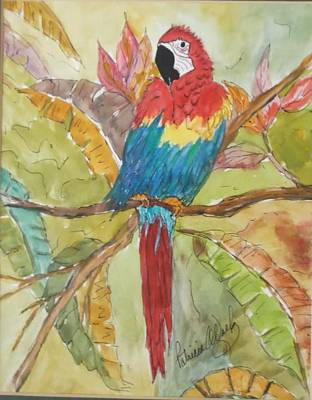 Painting - Colorful Parrot by Patricia Voelz