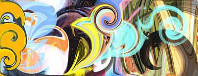 Digital Art - Colorful Pastel Swirls by Jessica Wright