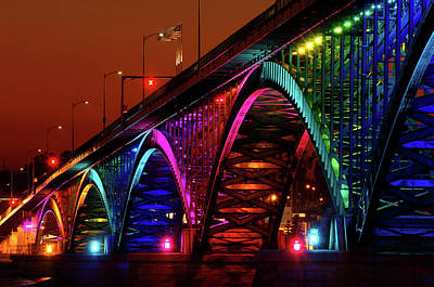 Colorful Peace Bridge Original by Joe  Cascio