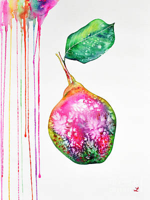 Painting - Colorful Pear by Zaira Dzhaubaeva