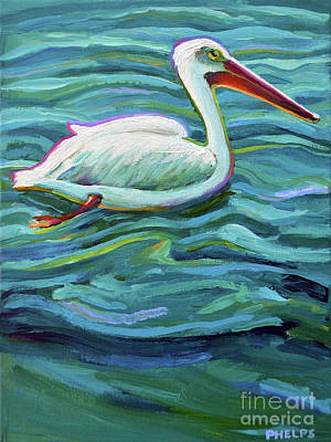 Painting - Colorful Pelican by Robert Phelps