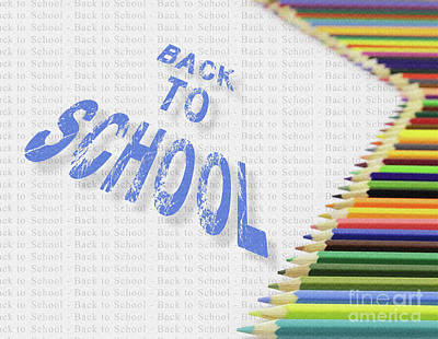 Drawing Photograph - Colorful Pencils Back To School Text In Perspective  by Daniel Ghioldi