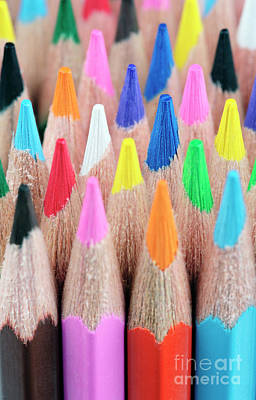 Colour Pencil Photograph - Colorful Pencils by Neil Overy