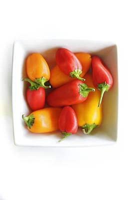 Colorful Peppers II Art Print
