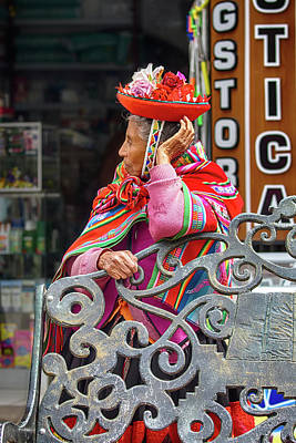 Photograph - Colorful Peruvian Woman by John Haldane