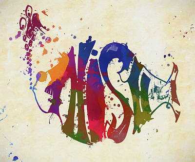 Celebrities Royalty-Free and Rights-Managed Images - Colorful Phish Logo by Dan Sproul