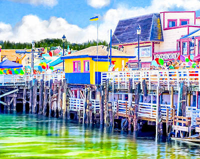 Photograph - Colorful Pier In Monterey California by Mark E Tisdale