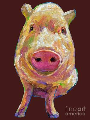Painting - Colorful Pig Painting by Robert Phelps