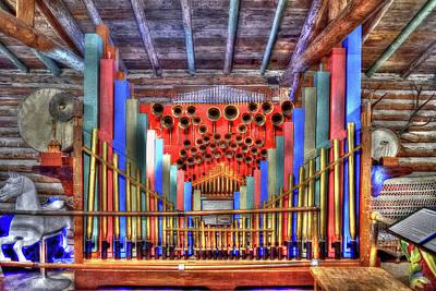 Photograph - Colorful Pipe Organ by Richard J Cassato