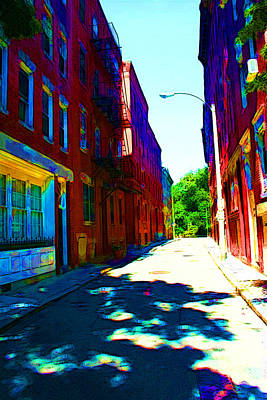 Colorful Place To Live Art Print by Julie Lueders