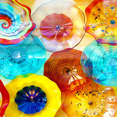 Art Glass Photograph - Colorful Plates by Artist and Photographer Laura Wrede