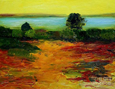 Painting - Colorful Prairie by Julie Lueders