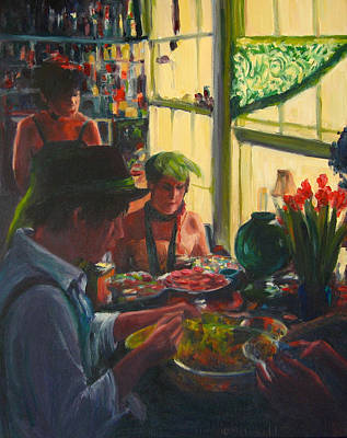 Painting - Colorful Preparations by Connie Schaertl