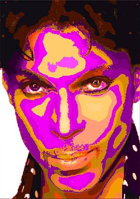 Painting - Colorful Prince - Purple by Samuel Majcen