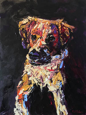 Colorful Pup Original by Rick Osborn