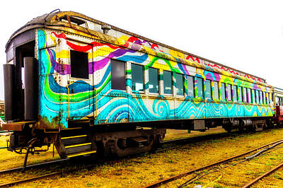 Mural Photograph - Colorful Rail Passenger Car by Garry Gay