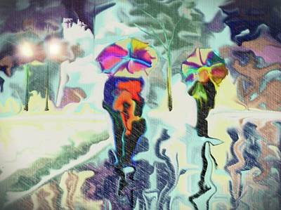 Digital Art - Colorful Rain by Darren Cannell