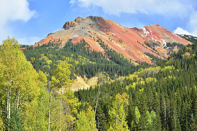 Photograph - Colorful Red Mountain And Aspens by Ray Mathis