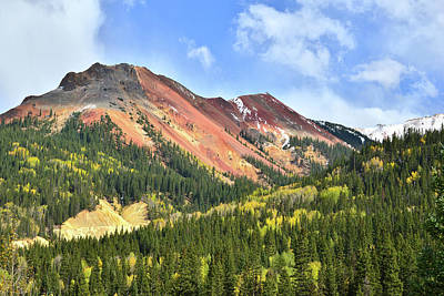 Photograph - Colorful Red Mountain by Ray Mathis