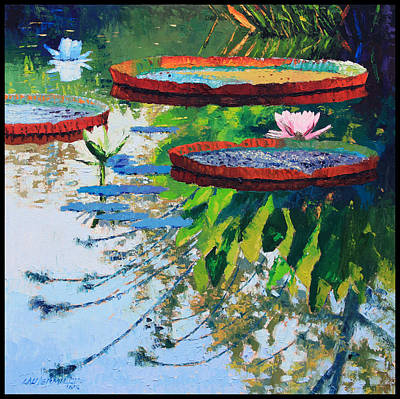 Painting - Colorful Reflections by John Lautermilch