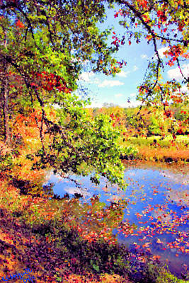 Beautiful Creek Digital Art - Colorful Reflections by Kristin Elmquist