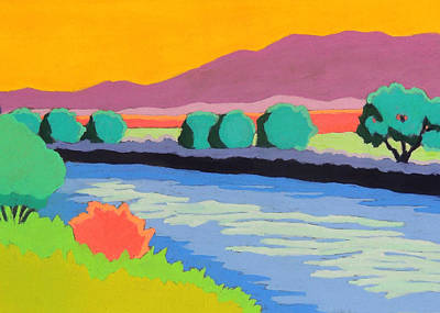 Wall Art - Pastel - Colorful River by Candy Mayer